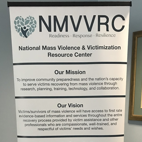 The National Mass Violence and Victimization Resource Center Stakeholders group spent a very productive weekend together in November working to define long term needs of survivors of mass violence.